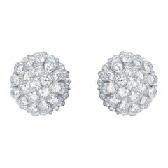 1950 White Gold and Diamonds Earrings