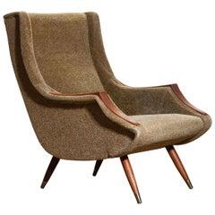 1950s, 1 Italian Lounge Club Chair by Aldo Morbelli for Isa Bergamo