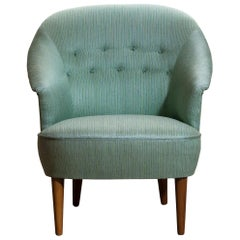"""1950s 1 """"Lillasyster"""" Lounge or Club Chair by Carl Malmsten, Sweden"""