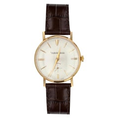 1950s 18 Karat Yellow Gold Jaeger Lecoultre Men Wristwatch