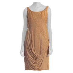 1950's 1950's Couture Draped Jersey Dress Dress