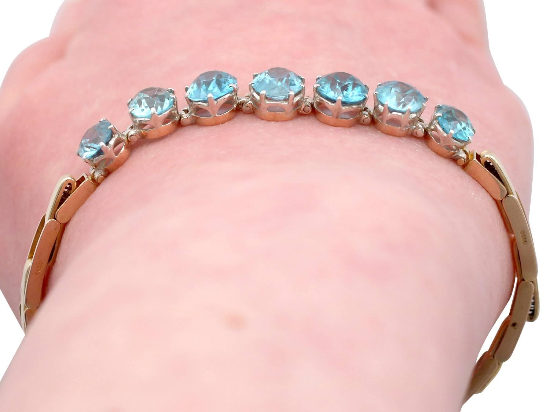 chain plated romantic gold opk zircon new design white women item platinum charm blue from bracelet banquet shining jewelry s bracelets in color hand