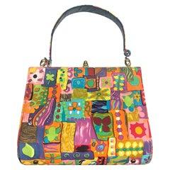 1950s / 1960s Bright Abstract Pattern Handbag