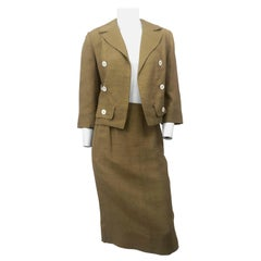 1950s/1960s Gold I. Magnin Silk Suit