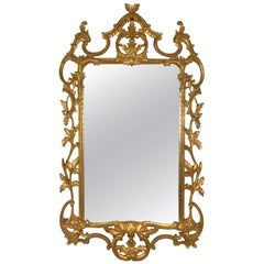 1950s-1960s Italian Gold Giltwood Rococo Style Mirror