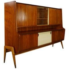 1950s-1960s Oswald Vermaercke Design Teak Wooden Midboard
