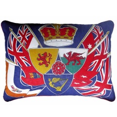 "Vintage Cushions ""British Flag"" Bespoke 1950s and 1980s Pillow, Made in London"