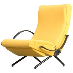 1950s 1st Edition Osvaldo Borsani 'P40' Louge Chair for Tecno