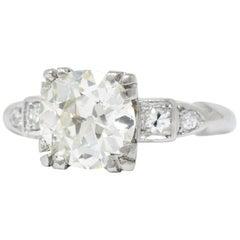 1950's 2.01 CTW Diamond And Palladium Engagement Ring GIA Certified