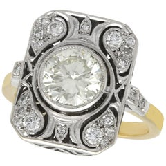 1950s 2.08 Carat Diamond Yellow Gold Cocktail Ring
