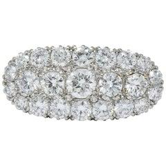 1950s 2.80 Carat Diamond 14 Karat Two-Tone Gold Cluster Ring