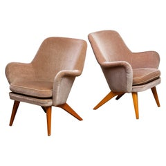 1950s a Pair of Pedro Chairs by Carl Gustav Hiort af Ornäs, Finland