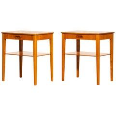 1950s, a Pair of Teak Bedside Tables by Björkås Möbelfabrik