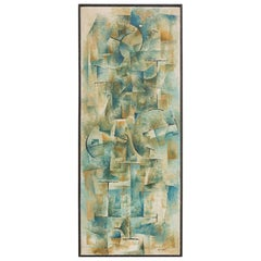 1950s Abstract Oil Painting by Witkoff