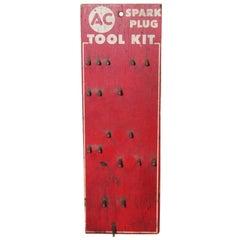 1950s AC Spark Plug Tool Holder Vintage Display