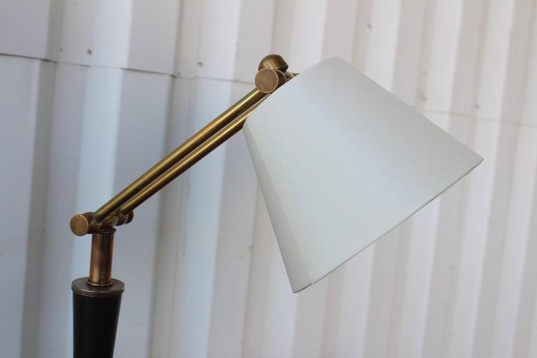 Metal 1950s Adjustable French Desk Lamp For Sale