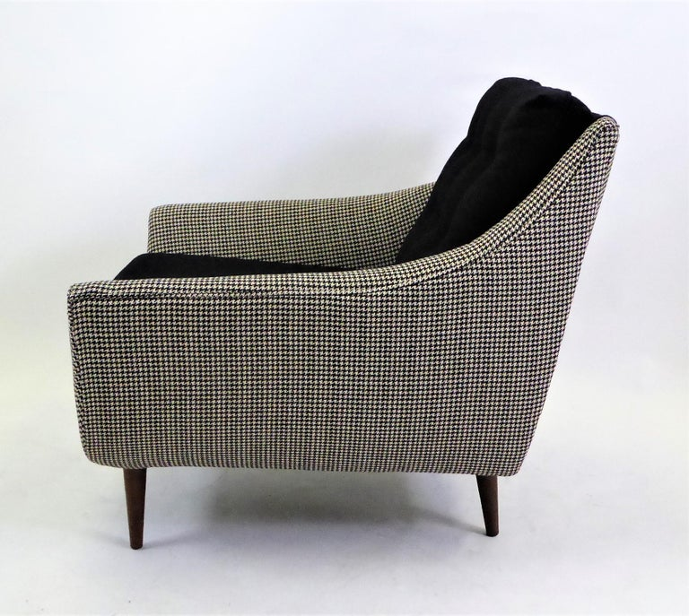 Mid-20th Century 1950s Adrian Pearsall Lounge Armchair in Houndstooth For Sale