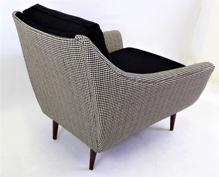 1950s Adrian Pearsall Lounge Armchair in Houndstooth For Sale 1
