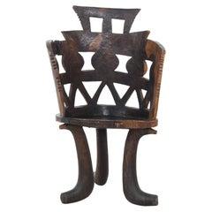 1950s African Wooden Armchair