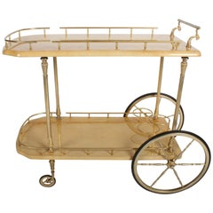 1950s Aldo Tura Goatskin Bar Cart Server, Italy