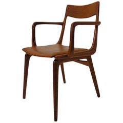 1950s Alfred Christensen Boomerang Armchairs in Teak, Choice of Upholstery