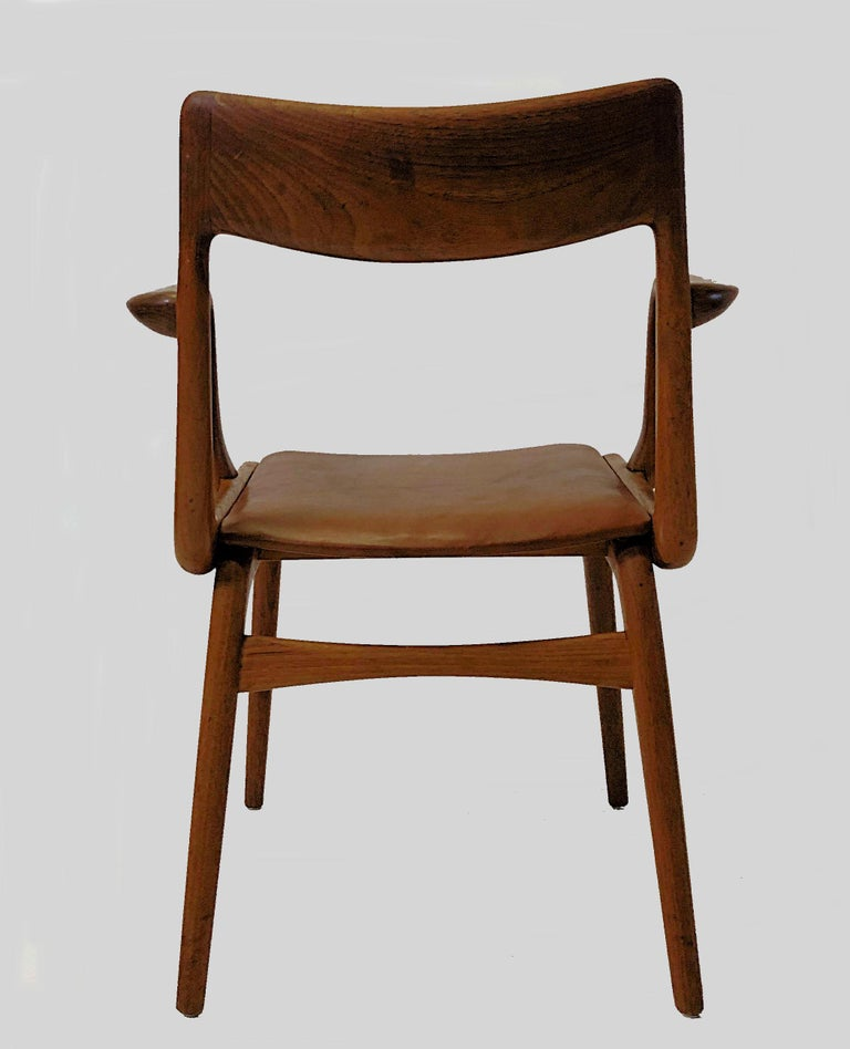 Danish Alfred Christensen Refinished Boomerang Armchairs in Teak, Choice of Upholstery For Sale