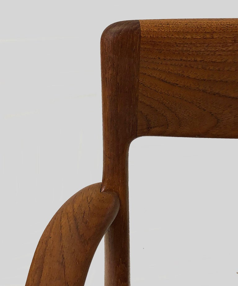 Mid-20th Century Alfred Christensen Refinished Boomerang Armchairs in Teak, Choice of Upholstery For Sale