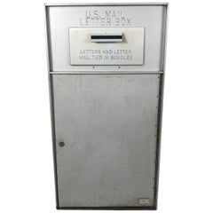1950s All Aluminum United States Mail Letter Box, Manufactured by Bommer