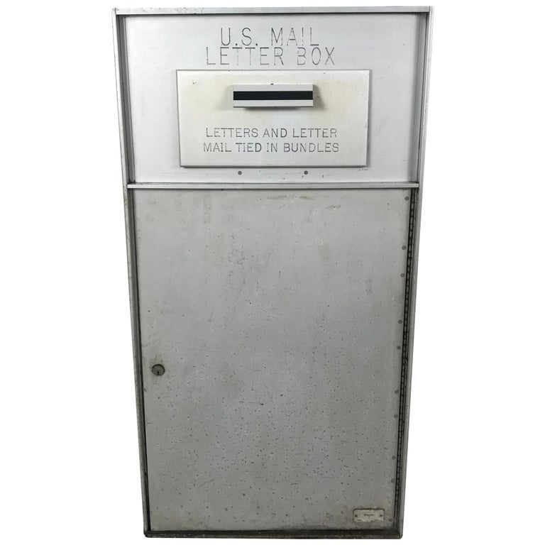 1950s All Aluminum United States Mail Letter Box, Manufactured by Bommer For Sale