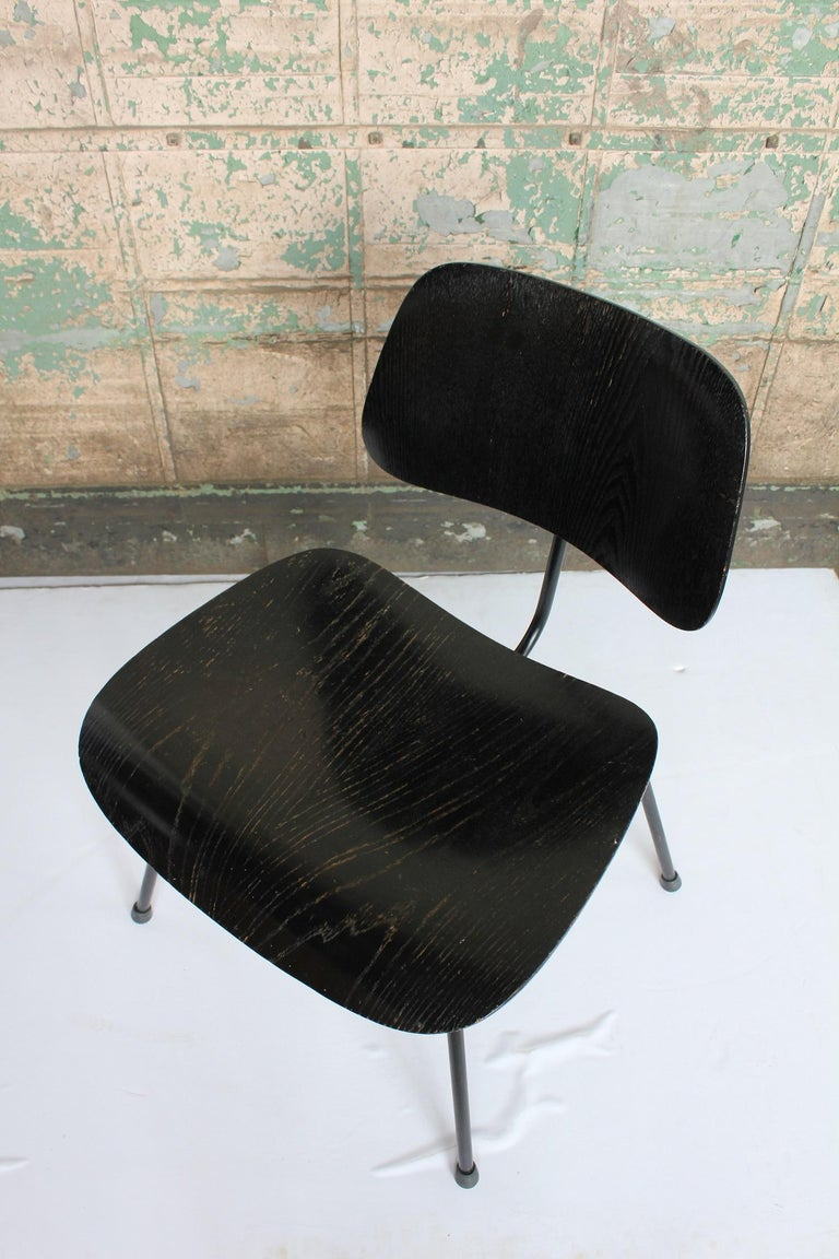 North American 1950s All Black DCM Chair by Charles & Ray Eames for Herman Miller For Sale