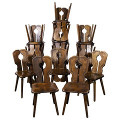 1950's Alsace Regional Open Back Dining Chair, Various Quantities Available
