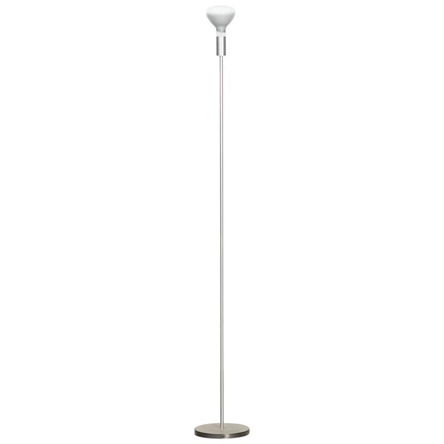 1950s Aluminum and Steel Floor Lamp by German Designer Otl Aicher