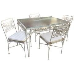 1950s Aluminum Greek Key Patio Set
