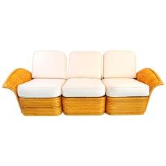 1950s American Rattan Sofa