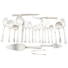 1950s American Sterling Silver Canteen of Cutlery for Six Persons