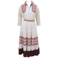 1950's American Western Wear Two Piece Patio Dress
