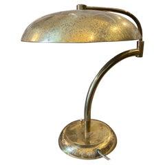 1950s Angelo Lelii Style Mid-Century Modern Solid Brass Italian Table Lamp