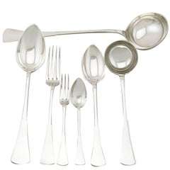 1950s Hungarian Silver Canteen of Cutlery for Six Persons
