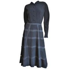 1950s Antonio Castillo Geometric Skirt Dress