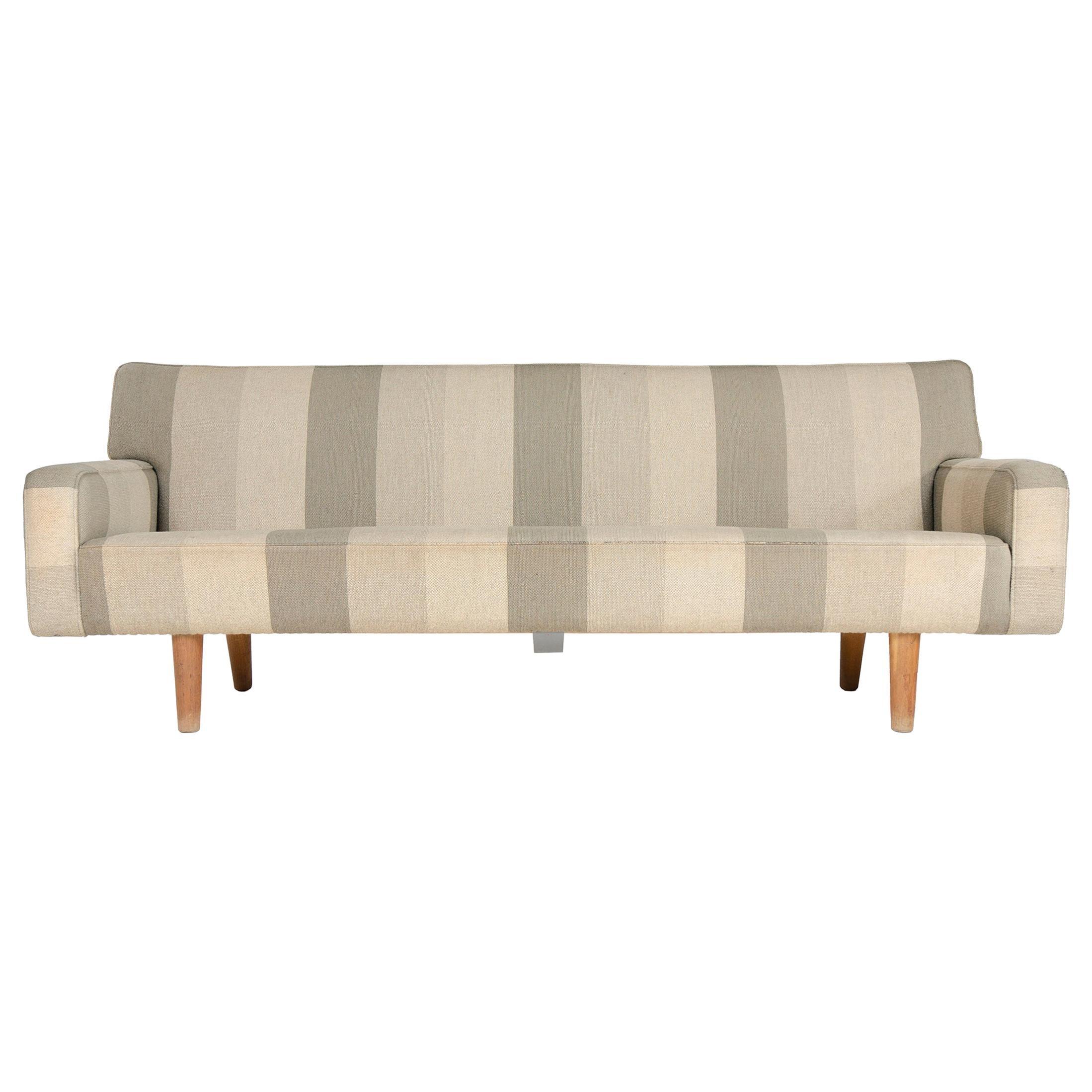 1950s AP32-S Danish Upholstered Sofa by Hans J. Wegner for A. P. Stolen