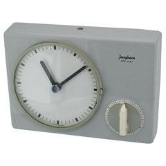 1950s Architect Max Bill German Minimalist Grey Wall Clock Modernist like Braun
