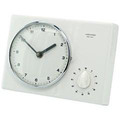 1950s Architect Max Bill German Minimalist White Ceramic Wall Clock Braun Era