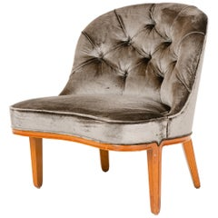 1950s Armless Slipper Chair by Edward Wormley for Dunbar