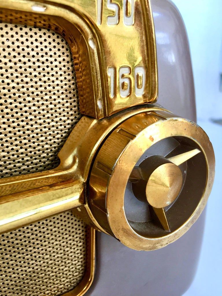 1950 S Art Deco Quot Dashboard Quot Tube Electronic Am Radio By