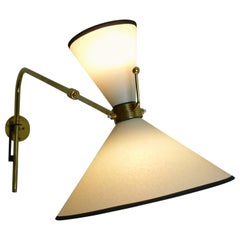 1950s Articulated Sconce by Maison Arlus