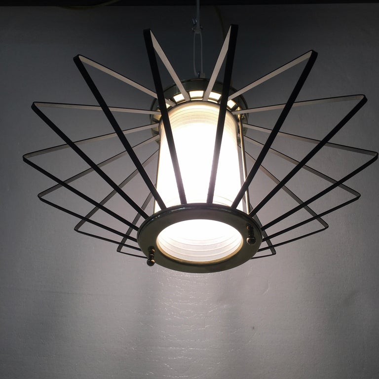 1950s Atomic Ceiling Mounted Light For Sale 3