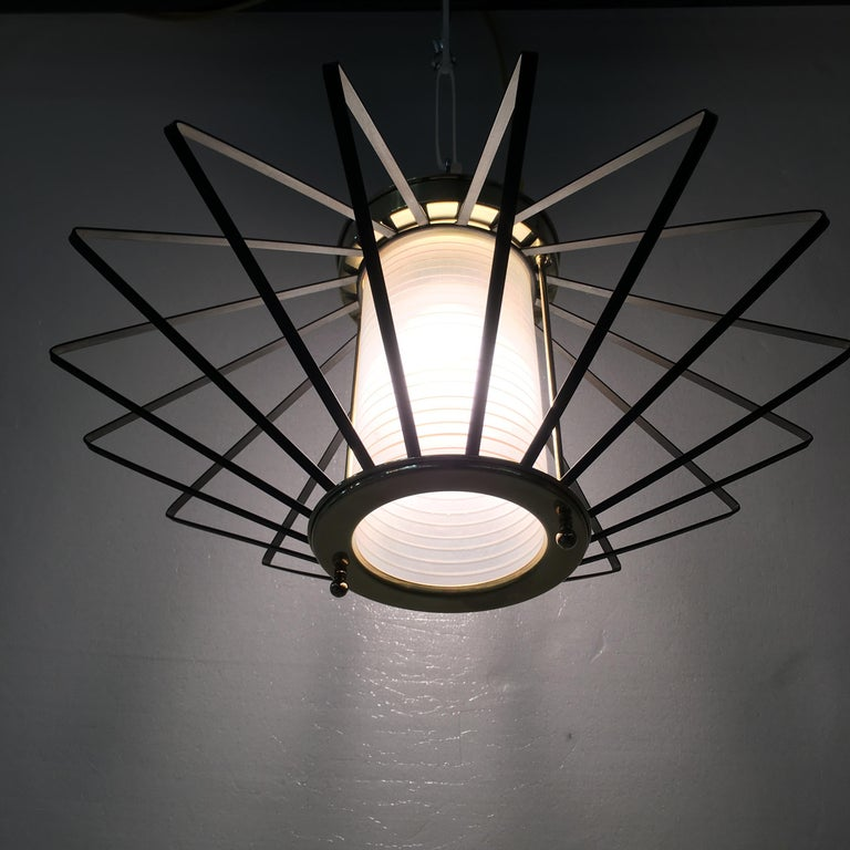 1950s Atomic Ceiling Mounted Light For Sale 5