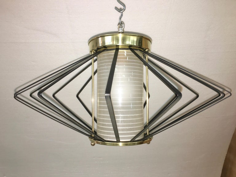 1950s Atomic Ceiling Mounted Light For Sale 6