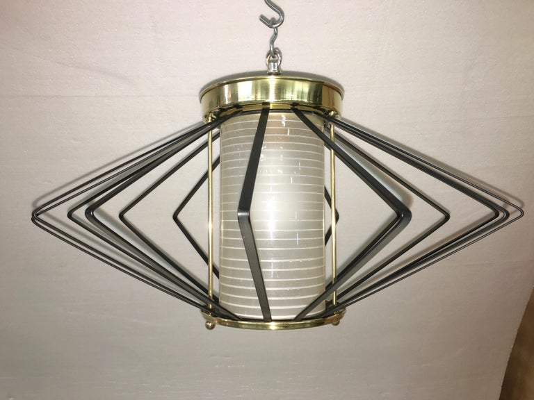 1950s Atomic Ceiling Mounted Light For Sale 7