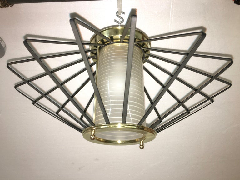 1950s Atomic Ceiling Mounted Light For Sale 8